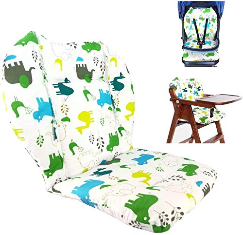 Baby Highchair/baby Dining Chair Seat Pad/seat Cushion Breathable High Chair Pad,light and Breathable, Cute Patterns, Make the Baby More Comfortable (elephant)