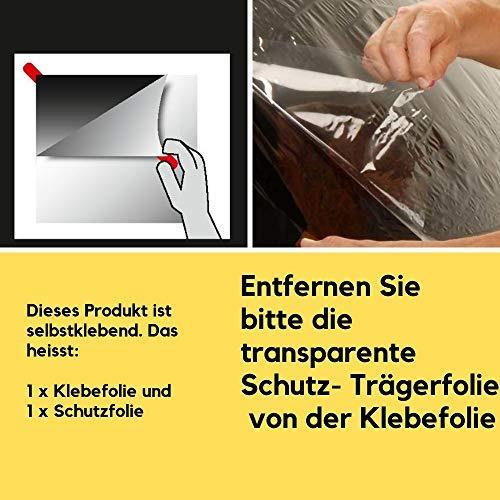Fenster Splitterschutz Folie, Schutzfolie Fenster Splitterschutzfolie transparent, Sicherheitsfolie für Fenster und Glas, Einbruchschutz Klebefolie, nach Norm DIN EN 12600, selbstklebend, UV- Schutz, ca.200 x 75 cm