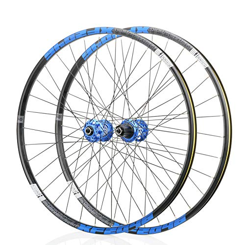 NYK KOOZER XF2046 26 27.5 650B 29' Wheelset Mountain Bike Disc M TB Road Wheel 32H (Black & Blue, 26')