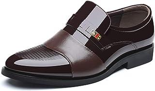 +6cmUP シークレットシューズ ビジネス 靴 メンズ/スーツ ビジネスシューズ ウォーキング 革靴 スリッポン 黒 茶色 新郎 タキシードにも 成人式 23.5cm 通気性 小さいサイズ