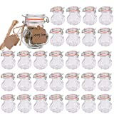 Glass Spice Jars,Encheng Glass Jars With Airtight Lids 4 oz,Small Jars...