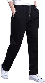 MogogoMen Solid Plus Size Straight Sport Casual Running Jogger Bottom Pants