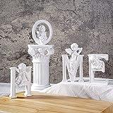 OwMell Set of 4 Angel Cherub Statue Letter...