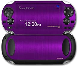 Sony PS Vita Skin Brushed Metal Purple by WraptorSkinz by WraptorSkinz