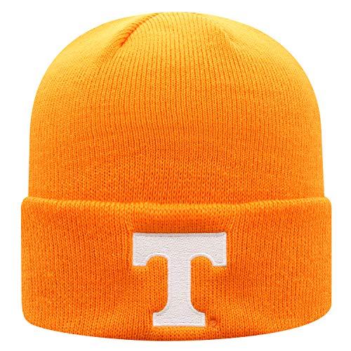 Top of the World NCAA Herren Strickmütze mit Bündchen, Unisex - Erwachsene, Elite Fan Shop NCAA Winter Knit Hat Cuffed Team, Tennessee Volunteers Orange, Einstellbar