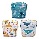 One Size fit 0-2 Year Babies: Generally speaking, babygoal swim diapers with adjustable snaps fits babies or toddlers from 0-2 years and grows with your little one. You can adjust the diaper to your desired size (S, M or L) by snapping onto different...