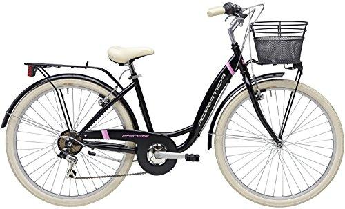 Adriatica 26 Zoll Damen City Fahrrad Panda 6 Gang, Farbe:schwarz