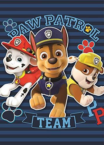 BrandMac PAW Patrol Kuscheldecke 120x140 Polyester Fleece-Decke Jungen Helfer auf Vier Pfoten