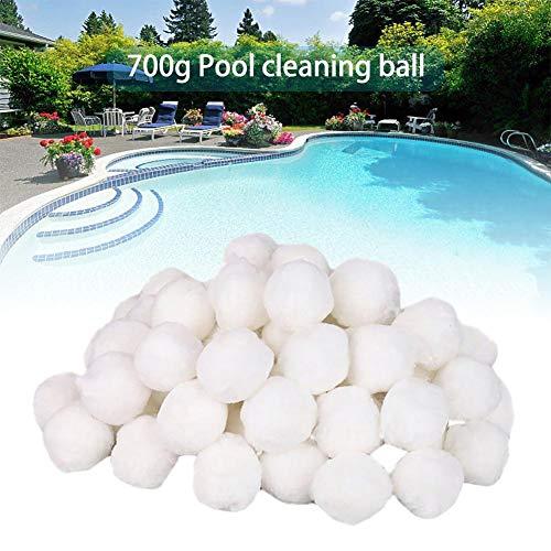 luckything 700g Schwimmbadreinigungsgeräte Spezielle Feinfilter Fiber Ball Filter Licht Hochfeste Langlebige Schwimmbadreinigung
