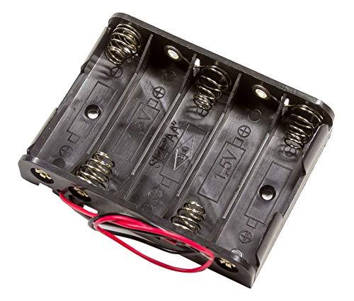 5-Fach AA Zellen Akkuhalter Batteriehalter für Batterien Akkus AA-Rundzellen mignon-Zellen