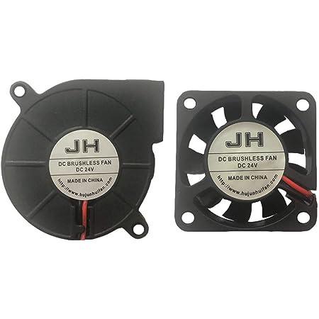 Ventola di raffreddamento 30 x 30 x 10 mm DC 24 V per estrusore stampante 3D Hotend 2 pezzi