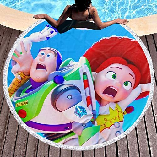 Toalla de baño de historieta Toy Story con toalla de algodón súper suave y absorbente resistente a la decoloración