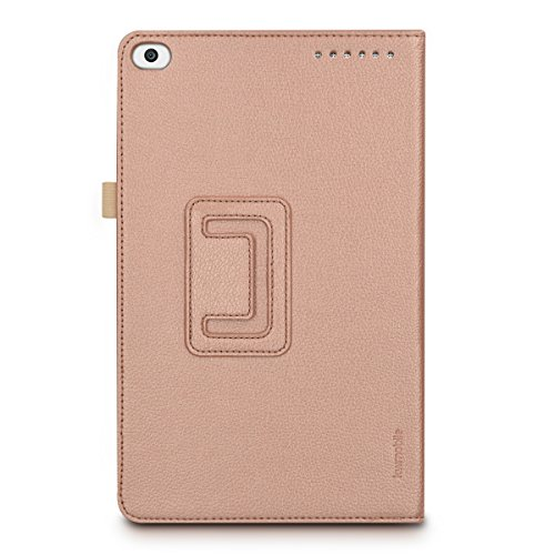 kwmobile Huawei MediaPad T1 10 Hülle - Tablet Cover Case Schutzhülle für Huawei MediaPad T1 10 - Rosegold mit Ständer - 3