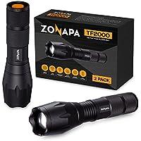 2-Pack Zonapa Tactical LED Flashlight High Lumens