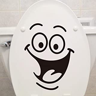 Smile Happy Face Wall Sticker for Toilet Lid Rest Room