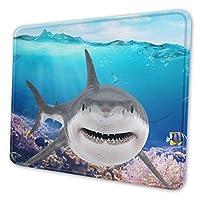 動物 サメ マウスパッド 18 X 22cm 滑り止め 防水 おしゃれ 洗える ビジネス用 家庭用 ゲーム用