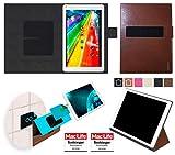 reboon Hülle für Archos 101c Platinum Tasche Cover Case Bumper | in Braun Leder | Testsieger
