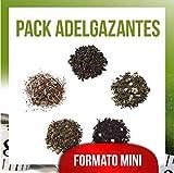 Aromas de Té - Mini Pack Té Deportistas contiene Té Pu Erh Oasis + Té Verde y Blanco Sorbete de Limón + Té Oolong Frambuesa + Té Verde Arcoiris + Infusión Rooibos Esbeltes