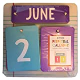 Made For Retail 19 Pieces Perpetual Desk Calendar Perfect for Teachers - Works for Any Year