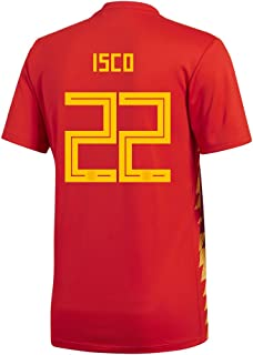 adidas ISCO #22 Spain Home Men's Soccer Jersey World Cup Russia 2018