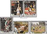 Comores 712-716 (complète.Edition.) 1984 Jeux Olympiques Été 1984 (Timbres pour Les collectionneurs) Basket-Ball/Volley-Ball/Handball