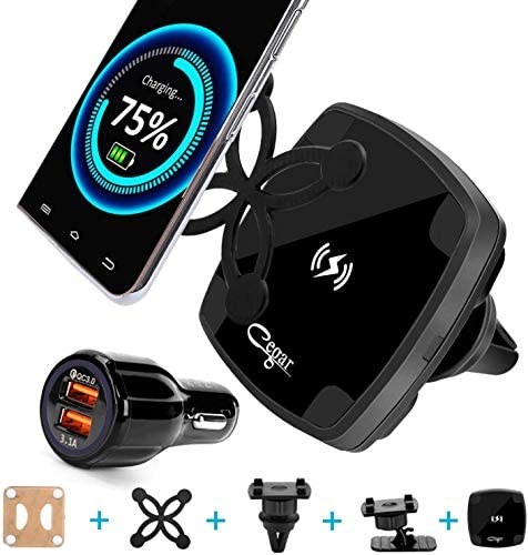 2020 CEGAR Magnetic Wireless Car Charger Mount Qi Car Phone Mount Air Vent Car Charger QC3 0 product image