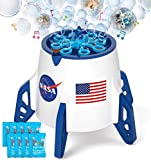 Bubble Machine, Space Rocket Bubble Machine for Toddlers,...
