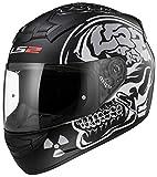 Casco integral para moto: LS2 FF352X-Ray, Rookie. Casco integral para ciclomotor, casco integral facial Touring de color negro opaco XL negro mate