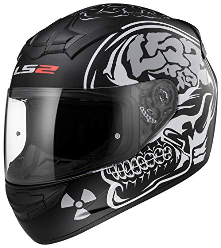 LS2 Ff352 nieuwe X-Ray integraalhelm Moto Bike Racing Crash City UK Road legal en bivakmuts M Zwart