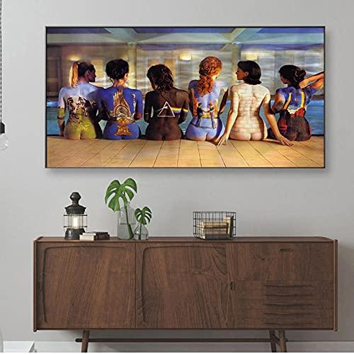 VUSMH Pintura del Cuerpo, Cuadro en Lienzo, póster de Chicas Sexis, Arte Mural Abstracto, póster Trasero para Dama, hogar, Sala de Estar, Dormitorio, decoración de Pared, imagen-70x140cm x1 Sin Marco