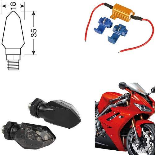 90475 + 61 Paire Clignotants LED Moto Honda NC 750 X DCT ABS indicateurs Direction résistance homologuées universels Moto Noires