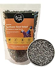 The Birds Company Premium Striped Sunflower Seed Select, Fortified with Spirulina & Cuttlefish Bone, Bird Food for Conures, Lovebirds, Cockatiels, African Grey, Macaws, Cockatoo, 450 g