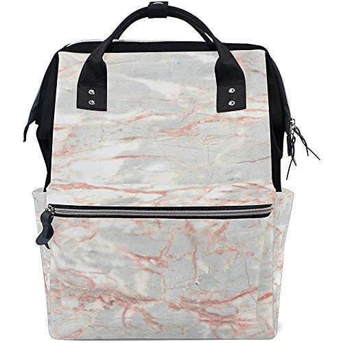 Mummy Backpack Marble Art Diaper Backpack Travel Baby Bags Multi-Function Mom Large Capacity Backpacks Zipper Casual Dad Unisex 28X18X40Cm