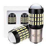 AGLINT 2X 1156 BA15S Auto LED Ampoules 66SMD 4014 12V 24V 1141 7056 DRL Stationnement Clignotants Feu Recul Feu Frein Feu Direction Voiture Lampe (Blanc, P21W)