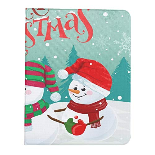 Case for Ipad Pro 11' 2020/2018 with Pencil Holder,Smart Lightweight Soft TPU Back Premium Protective Case Cover with Auto Sleep/Wake Feature,Three Funny Snowmen Hats Scarfs Mittens
