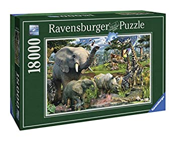 Ravensburger at The Waterhole - 18000 Piece Jigsaw Puzzle for Adults – Softclick Technology Means Pieces Fit Together Perfectly  17823