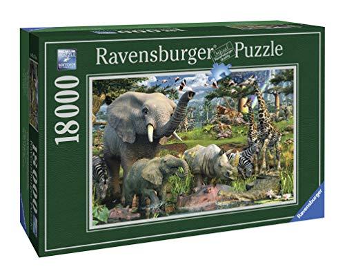 "Ravensburger 17823 - David Penfound \""At the waterhole\"" - 18000 Teile Puzzle (276x192 cm)"