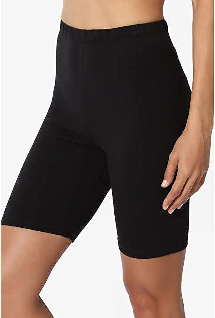 WUAI Yoga Shorts for Women High Waist Workout Leggings Tummy Control Active Bermuda Short Leggings