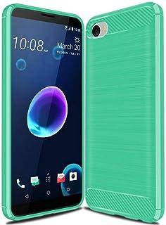 غطاء حافظة HTC Desire 12، حافظة من ألياف الكربون، ناعمة مضادة للانزلاق، حافظة مضادة لبصمات الأصابع، غطاء حماية كامل لهاتف ...