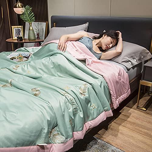 Bedding-LZ Juegos de sábanas de 160x200-d,Día de Color sólido Cuatro Paquetes de Lujo Ligero.-Q_Cama de 150 cm