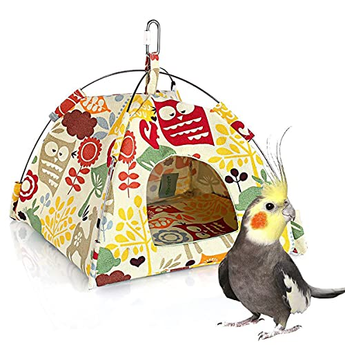 Vinnykud Warm Tenda Amaca Uccello Appeso Gabbia per Uccelli con Amaca Imbottita può Appendere Una capanna di Tela per Pappagallo Uccelli Criceto Piccolo Animale Domestico Nido