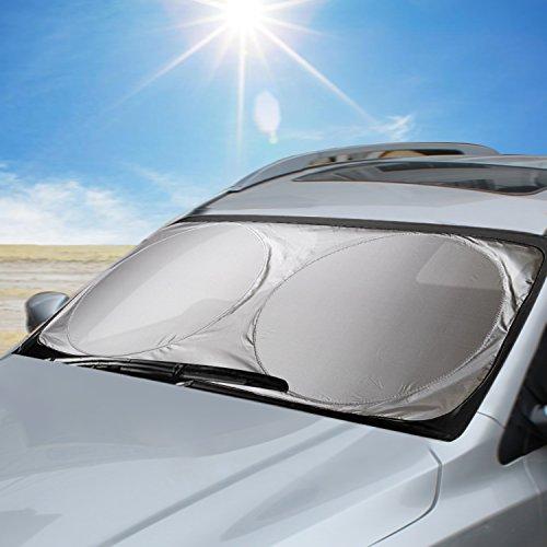Aodoor Parasol para Parabrisa, parasoles de Coche Delantero, Protección Auto Frontal Plegable contra el Calor y los Rayos UV del Sol, 160 x 86cm