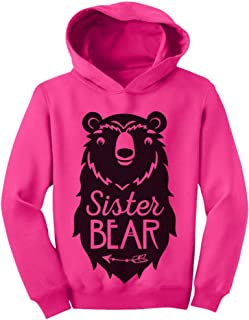 Tstars Big Sister Bear Cute Gift Sibling Girl Family Toddler Hoodie