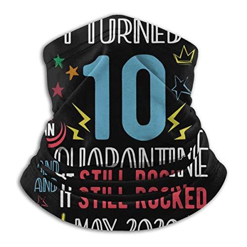 huatongxin 10mo Nacido en 2010 Cumpleaños Cumplí 10 años en cuarentena Todavía meció mayo de 2020 Calentador de cuello de microfibra