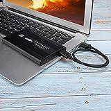 Leftwei Carcasa Externa de Disco Duro Duradero, Carcasa HDD, Unidad de Disco Duro USB 3.0 de 2,5 Pulgadas para computadora portátil con Disco Duro mecánico