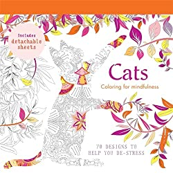 cat coloring for mindfulness