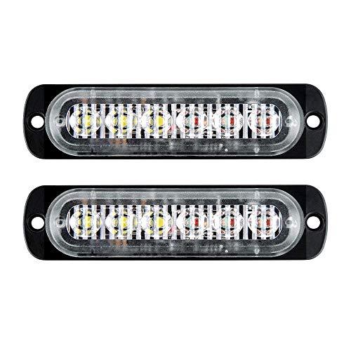 lumi/ère Blanche VOSAREA 2pcs Universal Wind Power Day Light Running 8-LED Auto Lampe dext/érieur