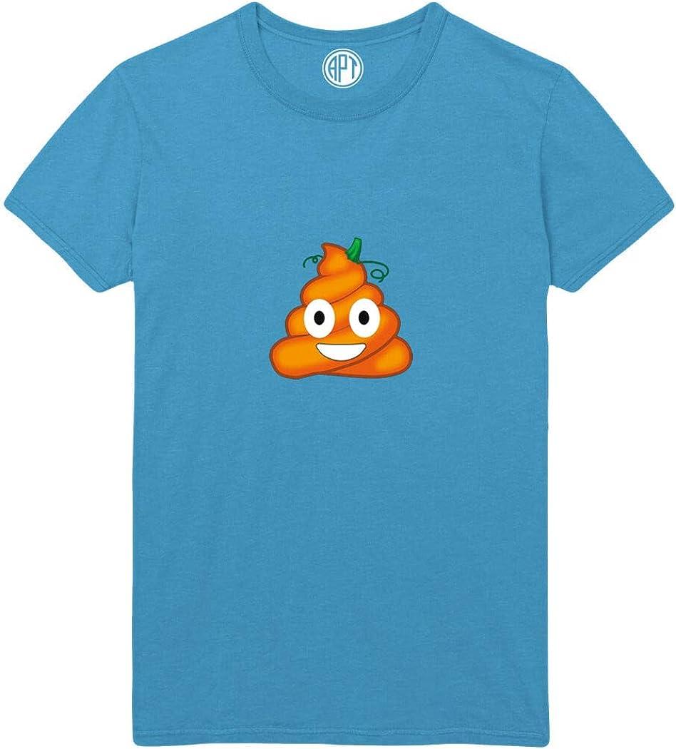 Pumpkin Poop Emoji Printed T-Shirt