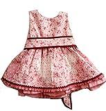 Godettia Vestido de Niña con Estampado de Corazones para Bebes de 18 y 24 Meses   para Ceremonias, Bodas, Comuniones o Bautizos   Hechos en España con la Máxima Calidad