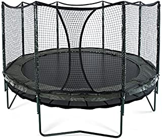 JumpSport 14' DoubleBounce | AlleyOOP Trampoline with Enclosure | Double The Safety, Double The Fun | 50+ Patent & Safety Innovations | Lifetime Frame Warranty